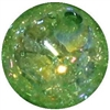 16mm Lime Green Crackle Acrylic Bubblegum Bead