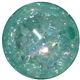 16mm Mint Crackle Bead