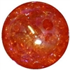 16mm Orange Crackle Acrylic Bubblegum Beads