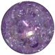16mm Purple Crackle Bead