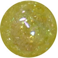 16mm Yellow Crackle Bead