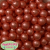 16mm Orange Crinkle Pearl Bubblegum Beads