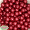 16mm Red Crinkle Pearl Beads