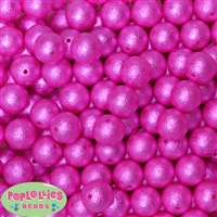 16mm Rose Crinkle Pearl Bubblegum Beads