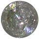 16mm Clear Glitter Bead