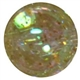16mm Clear Gold Glitter Acrylic Gumball Bead