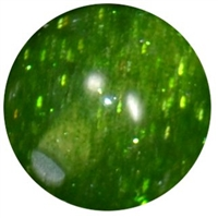 16mm Clear Green Glitter Acrylic Gumball Bead