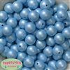 16mm Baby Blue Matte Acrylic Bubblegum Bead