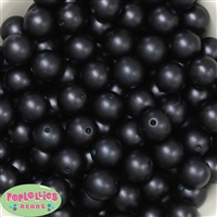 16mm Black Matte Acrylic Bubblegum Bead
