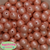 16mm Coral Matte Beads