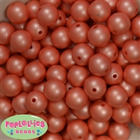 16mm Orange Matte Beads 20pc