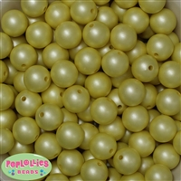 16mm Pastel Yellow Matte Beads