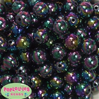 16mm Black Miracle Beads