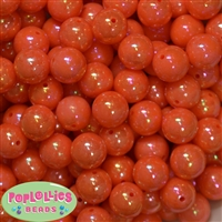 16mm Orange Miracle Beads