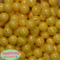 16mm Yellow Miracle Beads