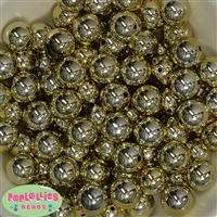 16mm Gold Mirror Beads