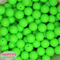 16mm Neon Lime Beads