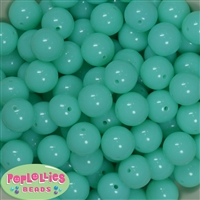 16mm Neon Mint Beads