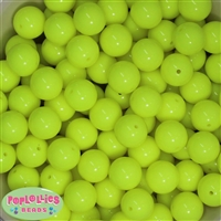 Bulk 16mm Neon Yellow Beads