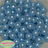 16mm baby blue faux pearl beads