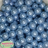 16mm Baby Blue Pearl Acrylic Beads