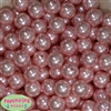 16mm Bulk Baby Pink Faux Pearl Beads