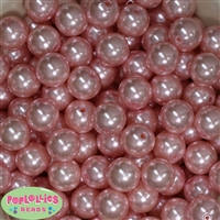 16mm Baby Pink Faux Pearl Acrylic Beads