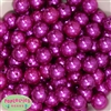 16mm Bright Pink Faux Pearl Beads