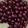 16mm Burgundy Faux Pearl Acrylic Beads
