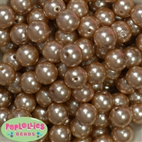 16mm Bulk Champagne Faux Pearl Beads