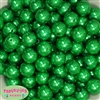 16mm Christmas Green Faux Acrylic  Pearl Bubblegum Beads