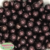 16mm Cocoa Brown Faux Acrylic  Pearl Bubblegum Beads