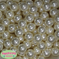 16mm Cream Faux Acrylic Pearl Bubblegum Beads