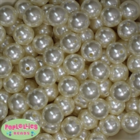 16mm Cream Faux Pearl Beads