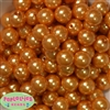 16mm Gold Faux Acrylic Pearl Bubblegum Beads Bulk