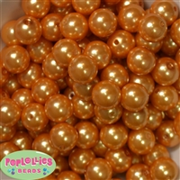 16mm Bulk Gold Faux Pearl Beads