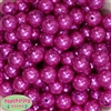 16mm Rose Pink Faux Acrylic Pearl Bubblegum Beads