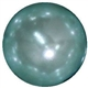 16mm Light Blue Faux Acrylic Pearl Bubblegum Beads