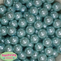 16mm Light Blue Pearl Acrylic Beads