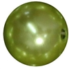 16mm Light Olive Green Faux Acrylic Pearl Bubblegum Beads