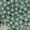 16mm Mint Green Faux Acrylic Pearl Bubblegum Beads