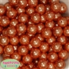 16mm Orange Faux Acrylic Pearl Bubblegum Beads