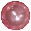 16mm Pink Faux Acrylic Pearl Bubblegum Beads