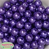 16mm Purple Faux Acrylic Pearl Bubblegum Beads Bulk
