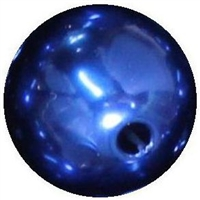 16mm Royal Blue Faux Acrylic Pearl Bubblegum Beads