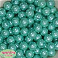 16mm Turquoise Faux Acrylic Pearl Bubblegum Beads Bulk