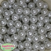 16mm White Faux Acrylic Pearl Bubblegum Beads