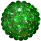 16mm Christmas Green Rhinestone Beads
