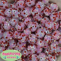16mm Confetti Love Rhinestone Beads 20 pack