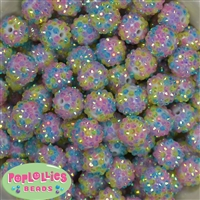 16mm Pastel Confetti Rhinestone Beads 20 pack